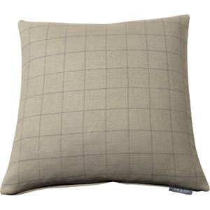 Chalk Check Grey Cushion