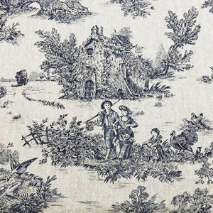 French Toile De Jouy in Blue