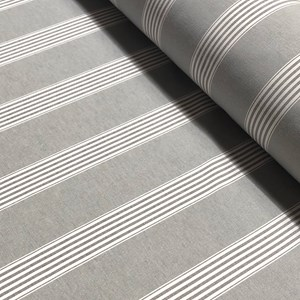 March Stripe Grey Fabric